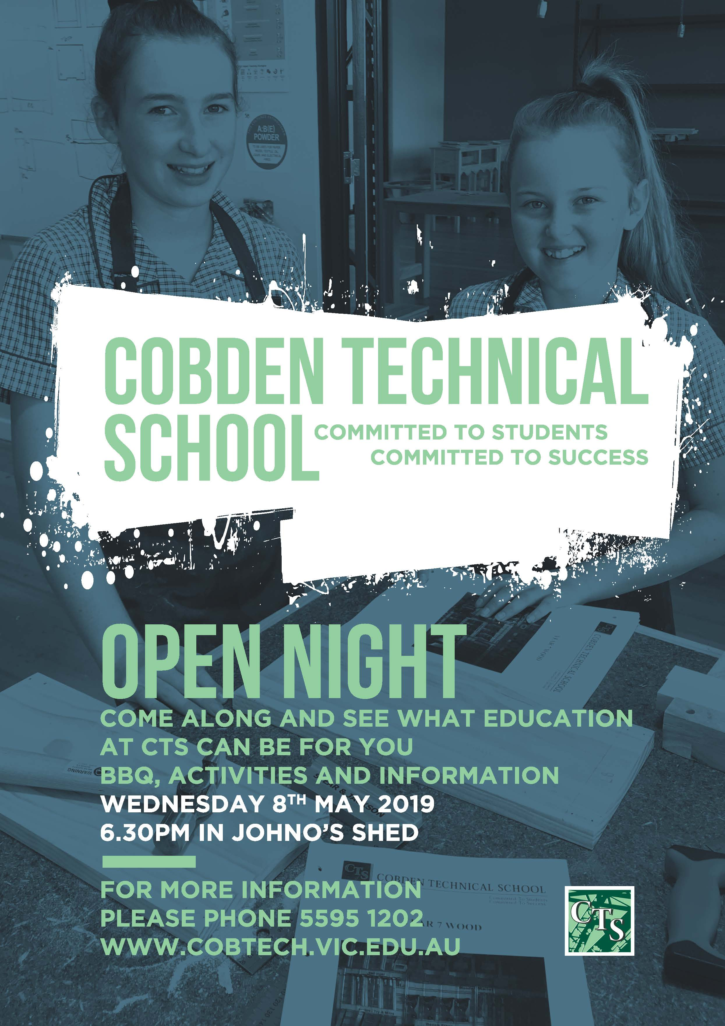 2019 Open Night Flyer (Front)